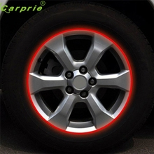 Dependable Fashion Blue Red Reflective Motorcycle Car RIM Stripe Wheel Decal Tape Sticker 17 Strips Ap11 dropshipping Sep6(China)