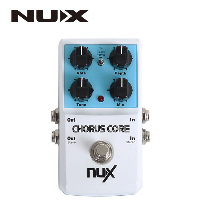 NUX Chorus Core Guitar Effects Pedal Aluminum Alloy Housing True Bypass<br>