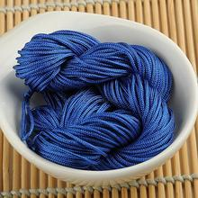 1mm Chinese Nylon Knot Cord Macrame Braided Rattail Beading Blue Thread String EQB172