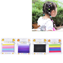 Wholesale Elastic Rubber Hair Ties Rope Kids Girls Solid Ponytail Hairwear Headwear Decoration Hair Band Acessories 20 Pcs/pack