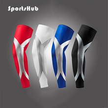 SPORTSHUB High Elastic Quick Dry Gym Sports Long Basketball Arm Sleeve Support Basketball Sport Elbow Arm Warmers Pad NR0087(China)
