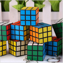 5PCS Puzzle Key Chain Rubik's Cube Hand Spinner Brain Intelligence Games Magic Cube 3*3*3 Stress Cube