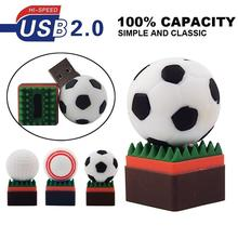 Football Usb Flash Drive 64GB 32GB 16GB 8GB 4GB BaseBall PenDrive Memory Flash Card Stick Golf Ball Pen Drive U Disk