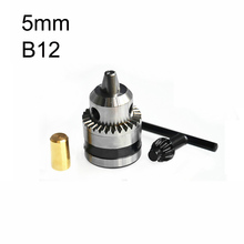 Mini Electric Drill Chuck 1.5-10mm B12 Taper Mounted Lathe Chuck PCB Mini Drill Press For Motor Shaft Connecting Rod 5mm(China)