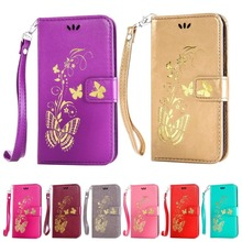 DEEVOLPO Wallet Case For Lenovo A2010 Golden Butterfly Flip Cover For A1000 A5000 A6000 A7000 Beauty Lady Leather Coque Bag DP13(China)