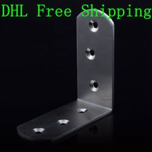 Wholesale Metal Construction Brackets 85mm*85mm 10pcs/lot 6 Holes Jewelry Box Hardware Bed Frame Fittings(China)