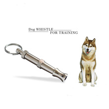 Puppy Pet Dog Whistle Two-tone Ultrasonic Flute Stop Barking Ultrasonic Sound Repeller Cat Training Keychain(China)