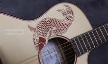 good quality good sound larry acoustic electric guitar(China)