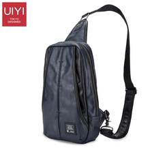 UIYI Dark blue men Chest bag PVC Male Shoulder bag Casual Messenger package men's Crossbody Bags support Drop Shipping #UYX7015(China)