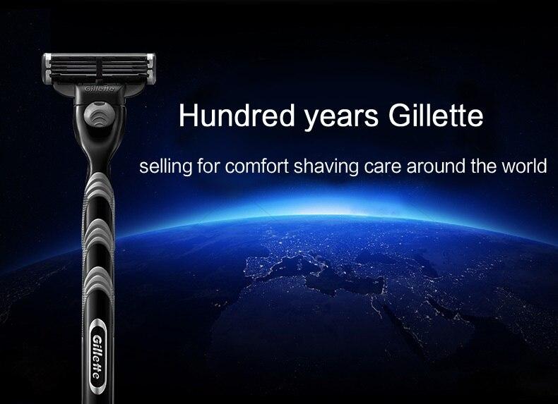 0 Gillette Mach 3 Safety Razor Shaving Razor Shaving Blades Double Edges Beard Shaver Shave 1 Razor Holder 1 Blade