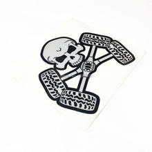 Skull Death 4x4 Motorcycle Car Wheel Sticker Decal Vinyl Reflective 3M for Jeep H2348(China)