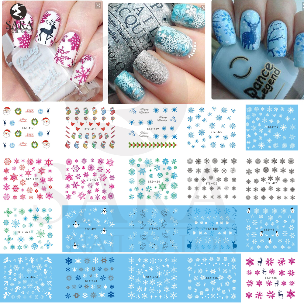 1Sheet Christmas Snow Flower Nail Art Water Transfer Nail Stickers Decal Full Cover Tips Christmas Xmas Gift STZ415-439<br><br>Aliexpress