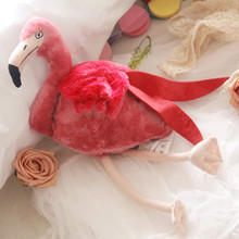 Free shipping 30CM Simulation Flamingo Plush Toy Cute Wildlife Bird Stuffed Toy Collection for birthday gift(China)
