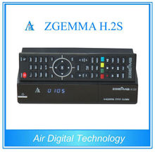 CCCAM Original ZGEMMA H .2S HD DVB-S2 + DVB-S2 Dual Core Satellite Receiver Twin Tuner Enigma 2 smart tv box support TF Card(China)