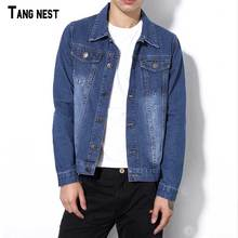 TANGNEST Men Jeans Jackets Small Size 2017 New Arrival Men's Slim Fit Denim Jacket Fashion Style Thin Jacket Denim MWJ2206
