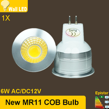 2015 NEW 6W MR11 COB GU4 LED Bulb Lamp  White/Warm White Light Energy Saving Led Lighting Free Shipping Ultra Bright