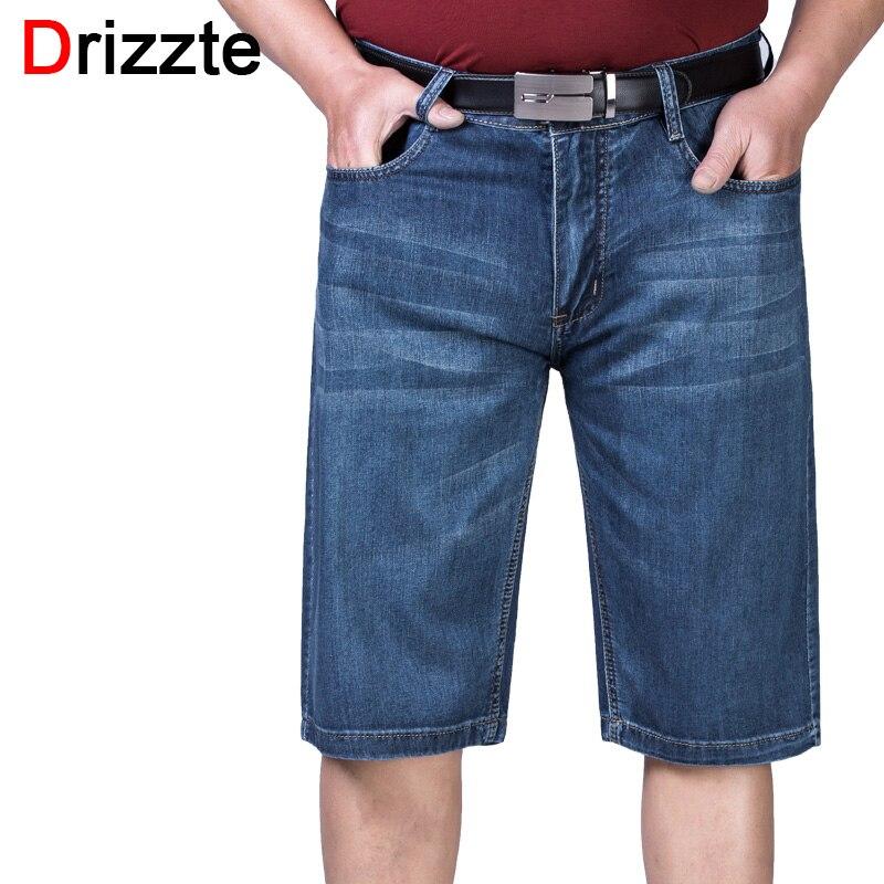 Drizzte Men 38 40 42 44 46 48 50 52 Plus Jeans Shorts Summer Short Work Blue Thin Denim Jean Big &amp; Tall Trousers PantsОдежда и ак�е��уары<br><br><br>Aliexpress