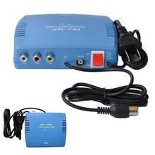 RF Modulator AV-RF AV-TV Converter RCA Ant Input To F Type Coax Output DVD AV RF Converter for Radio Equipment(China)