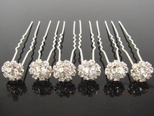 Free shipping  20pcs  (mixed order) Retail   PROM hair clips crystal hairpin
