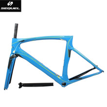 Buy carbon road bike frame Toray T1000 cheap carbon frame road bike frame+fork+seatpost+clamp+headset quadro carbono Di2 bike parts for $360.00 in AliExpress store