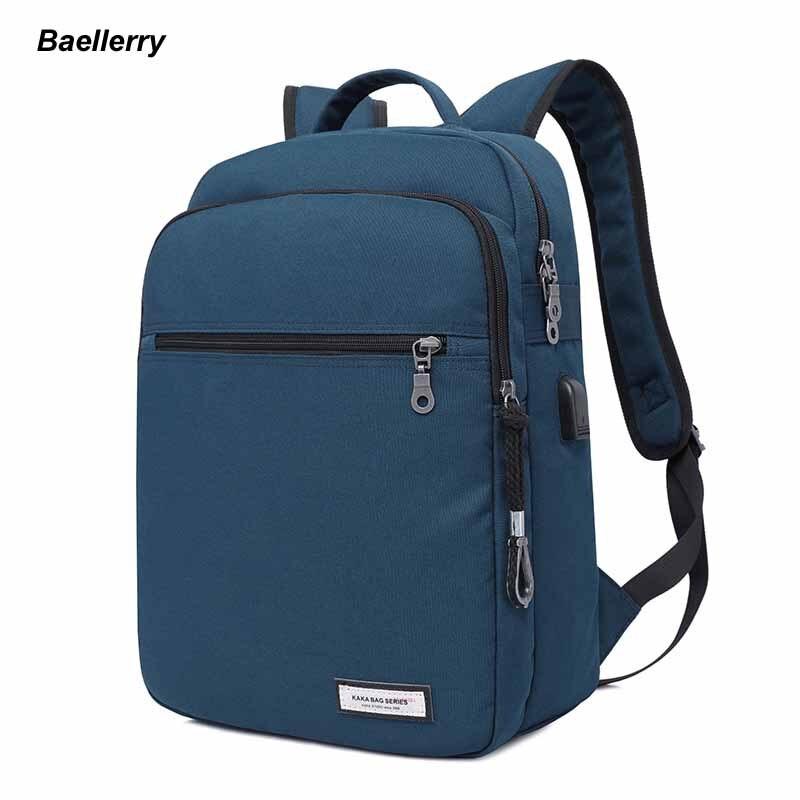 Best quality bag multifunction men and women laptop bag Laptop Backpack Macbook data cable design schoolbag bag travel bag<br>