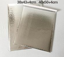 38*43cm 80pcs Large sliver bubble Mailer envelopes padded Mailing Bag silver shipping bubble envelope bag big(China)