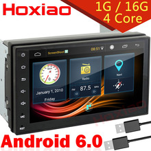 2 din android 6.0 Car DVD Radio Player 1024X600 WiFi 4 Core 16g For Nissan TOYOTA Volkswagen universal GPS Navigation Map free(China)