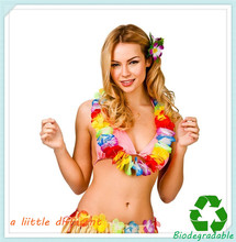 12pcs/lot L=0.5M Decorative Hawaiian Leis For Luau Tropical Themed Celebrations Beach Fancy Dress Party Supplies(China)