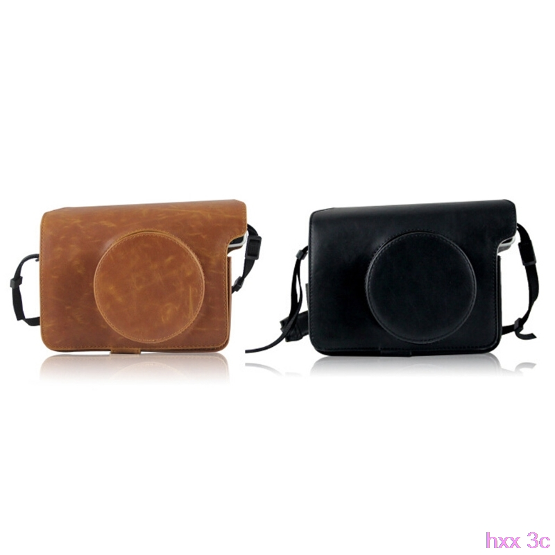 Instax Wide 300 Shoulder Strap Retro Style Leather Camera Bags For Fujifilm