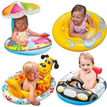 Genuine 15 kinds  Children Baby Sun Seat Infant Bath Swim Ring Ring Shipping Thickened Armpit Best gift  Inflatable Games