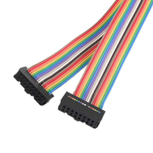 10x New 2.54mm Pitch 16 Pin Female to Female IDC Connector Rainbow Color Ribbon Flat Cable