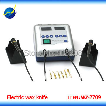 Wide Voltage Input And Rapid Heating Dental Lab Digital Electric Wax Carving Knife with 2 Pencil and 6 Tips<br>