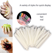 50Pcs Practical Fan Nail Polish Display Art New DIY Gel Color Palette Nails Color Card Manicure Makeup Tools