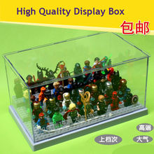 Clear Plastic Original Building Blocks   Show Case baseplate Ladder Acrylic Collection Parts Compatible Display Box