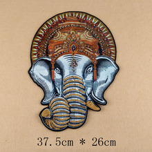 2017 Fashion Cloth sew on Embroidered Patches Indian Elephant style with Beads Clothes DIY materials Decoration free shipping