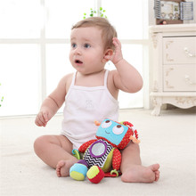 Baby Activity Toy Bed Hanging Toy Teether Soft Plush Robot Cute Baby Rattles Ring Bell Crib Doll Educational Toys For Newborn(China)