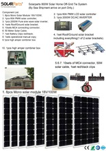 Boguang Solarparts 1x 800W Solar Home off-grid tie systems by sea 8pcs 100W mono solar modules bracket controller DIY kits panel
