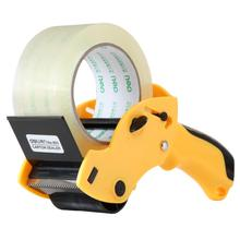 portable carton sealer premium tape cutter durable sharp sawtooth tape packing device Deli 803(China)