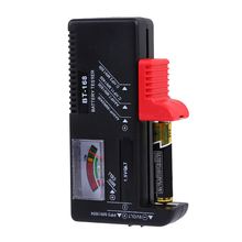 Practical Universal Digital LCD Battery Checker Volt Tester Cell AA AAA C D 9V Button For Household MFBS(China)