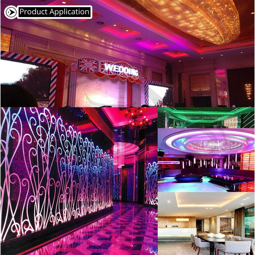 Hviero 5050 RGBW LED Strip Waterproof Non Waterproof DC 12V 5M LED Strips Light Flexible with 3A Power and Remote Controller full set