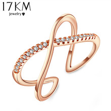 Buy Vintage X Cross Ring Jewelry Fashion Zircon Anel Bijoux Bague Wedding Band Rings Women female Accessory anillo CS12 for $2.26 in AliExpress store