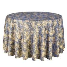 1PCS Elegant Poly Damask Dining Table Cloth Decor Party Wedding Hotel Table Cover Round Tablecloths Square Table Linen Wholesale(China)