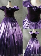 Custom Made Vintage Purple Gothic Victorian Dress Prom Gown Marie Antoinette Waltz Masquerade Dress Costume