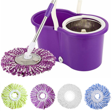Newest 360 degree Microfiber Mop Head Home Clean Tools Mops Refill Easy Spin Mops Super Water Dust Absorbing 4 Colors Available