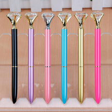 High Quality 5pcs/Lot Large Diamond Head Pens Gift Pen School Office Home Signing Pens Office Stationery Supplies Children Prize(China)