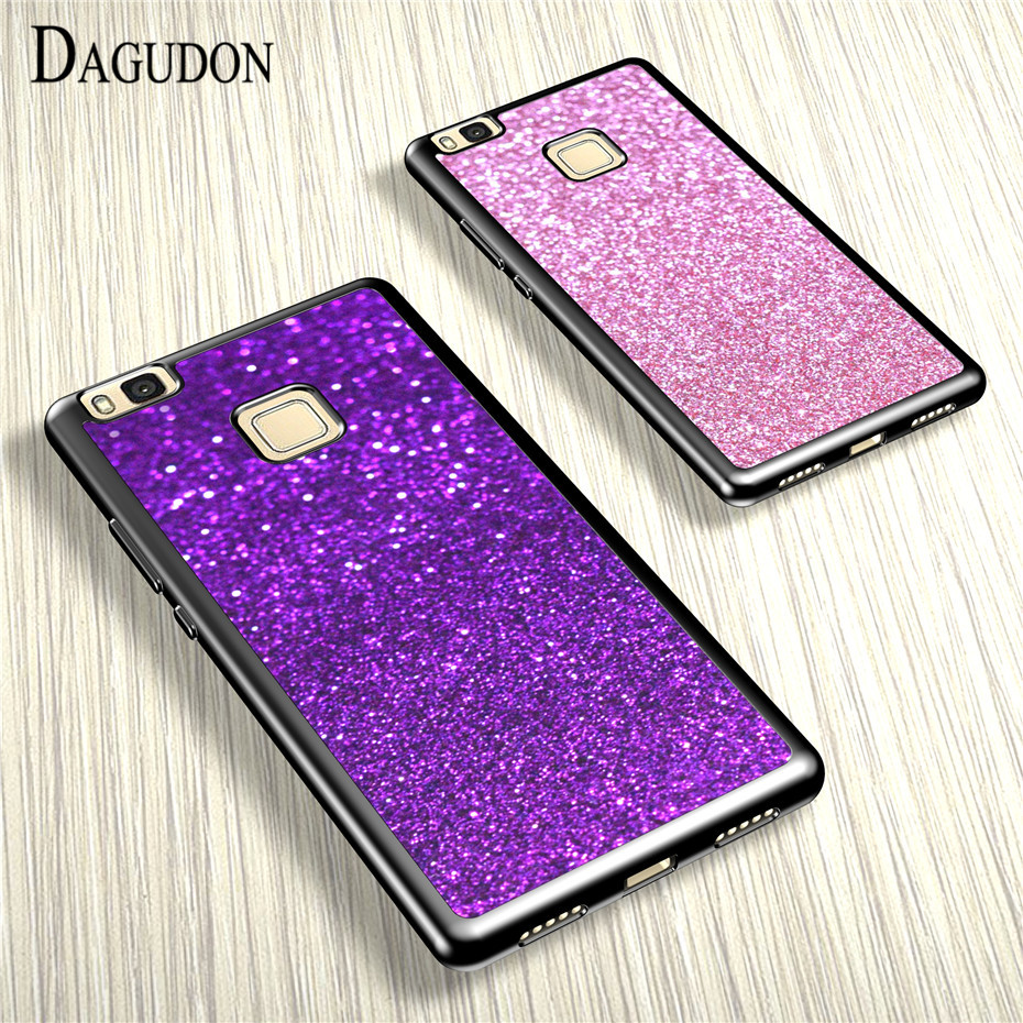DAGUDON Silicone TPU Phone Cases Huawei P9 lite 2016 Luxury Bling Glitter Cover Huawei P9 Lite Case Cover Coque Fundas