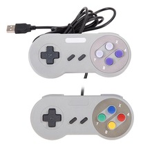 2PCS/LOT  Retro Classic Snes usb Controller PC Controllers Gamepad Joystick Replacement for android Super  for S NES Windows