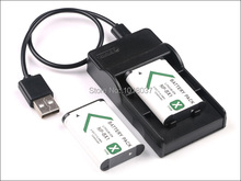 2PC NP-BX1 NP BX1 Rechargeable Camera Digital Battery + Micro USB Charger For Sony Action Cam
