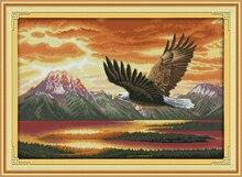 Flying Eagle Счетный крест 11CT печатных 14CT крестом DIY китайский хлопок Крестик Комплект Вышивка рукоделие(China)