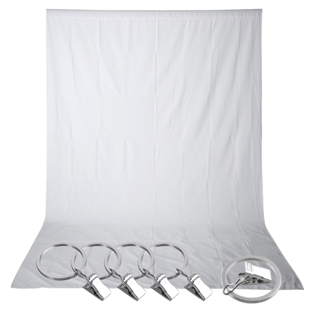 Neewer 1.5 x 3M PRO Photo Studio 100% Pure Muslin Collapsible Backdrop White Background+5-Pack Spring Clamps for Phootography<br><br>Aliexpress